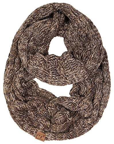 S1-6800-816.07 Funky Junque Infinity Scarf - 4 Tone Brown (#21)