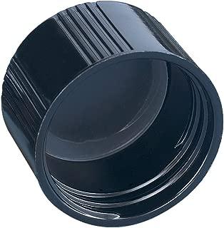 Kimble Phenolic Black Screw Cap with Solid PE Liners, Cap Size 20-400 (Case of 144)