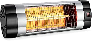 PATIOBOSS Patio Heater, Electric Wall-Mounted Outdoor Heater with LCD Display, Indoor/Outdoor Infrared Heater, 1500W Adjus...
