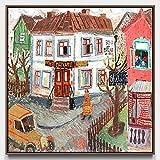 OUY Decoración De La Pared Estiró la Pintura Ilustraciones Fotos Dormitorio Decoración Pintura Pintura sobre Lienzo (Color : 05, Size : 70x70cm)