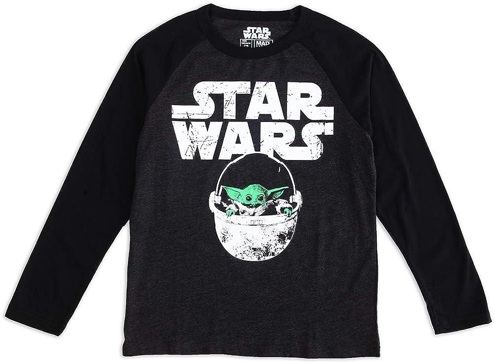 STAR WARS Boy's The Child Baby Yoda Grogu Cute Long Sleeve Graphic T-Shirt