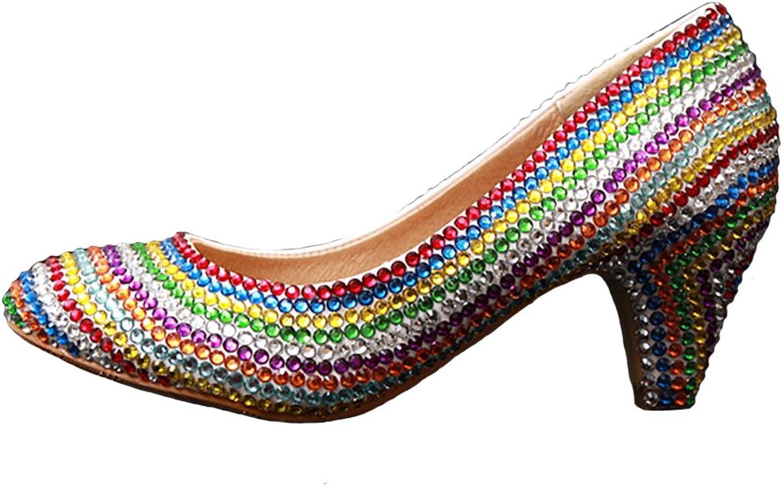 BoShi Women's Diamond Special Occasion Pumps Bridal shoes