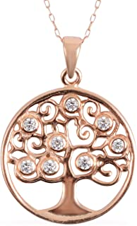 Rose Gold Plated 925 Sterling Silver Pendant Jewelry for Women