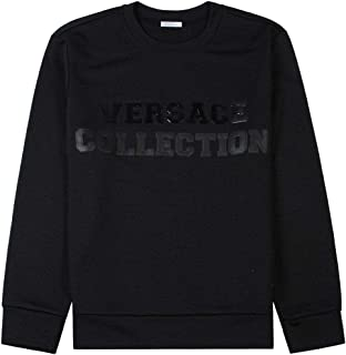 Versace Collection Graphic Logo Sweatshirt Black
