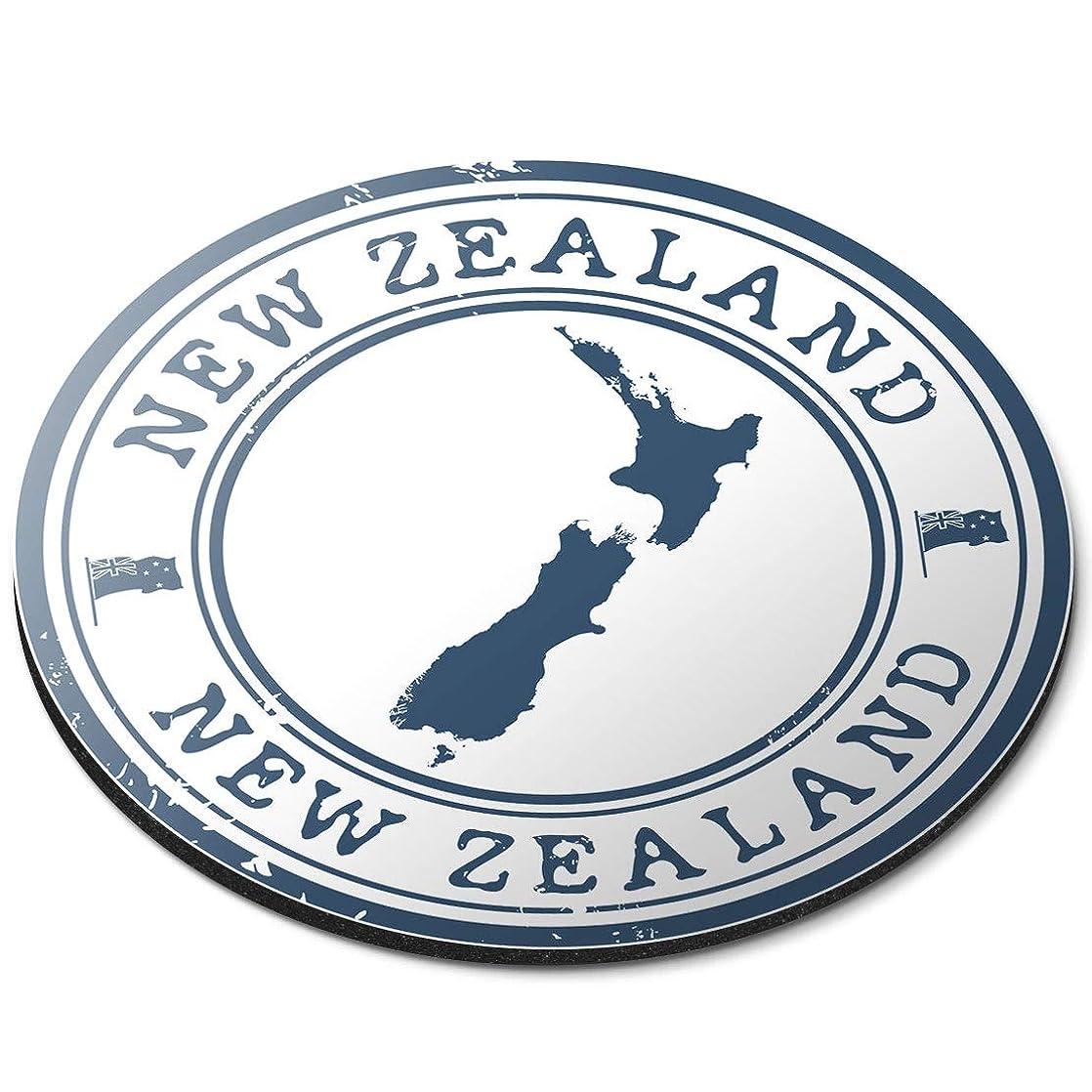 信念モンク永遠のラウンドマウスマット - ニュージーランド地図旅行ホリデーオフィスのギフト - RM4572
