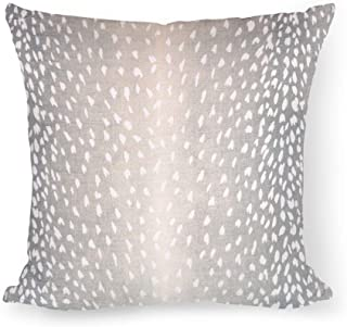 Antelope Print Pillow Cover Fawn Throw Pillow Cover Deer Pillow Cover Aqua Linen Pillow Aqua Blue Pillow Animal Print Decor