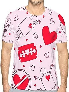 Tees Style T-Shirts Men Women Love Pattern Heart Razor Inked