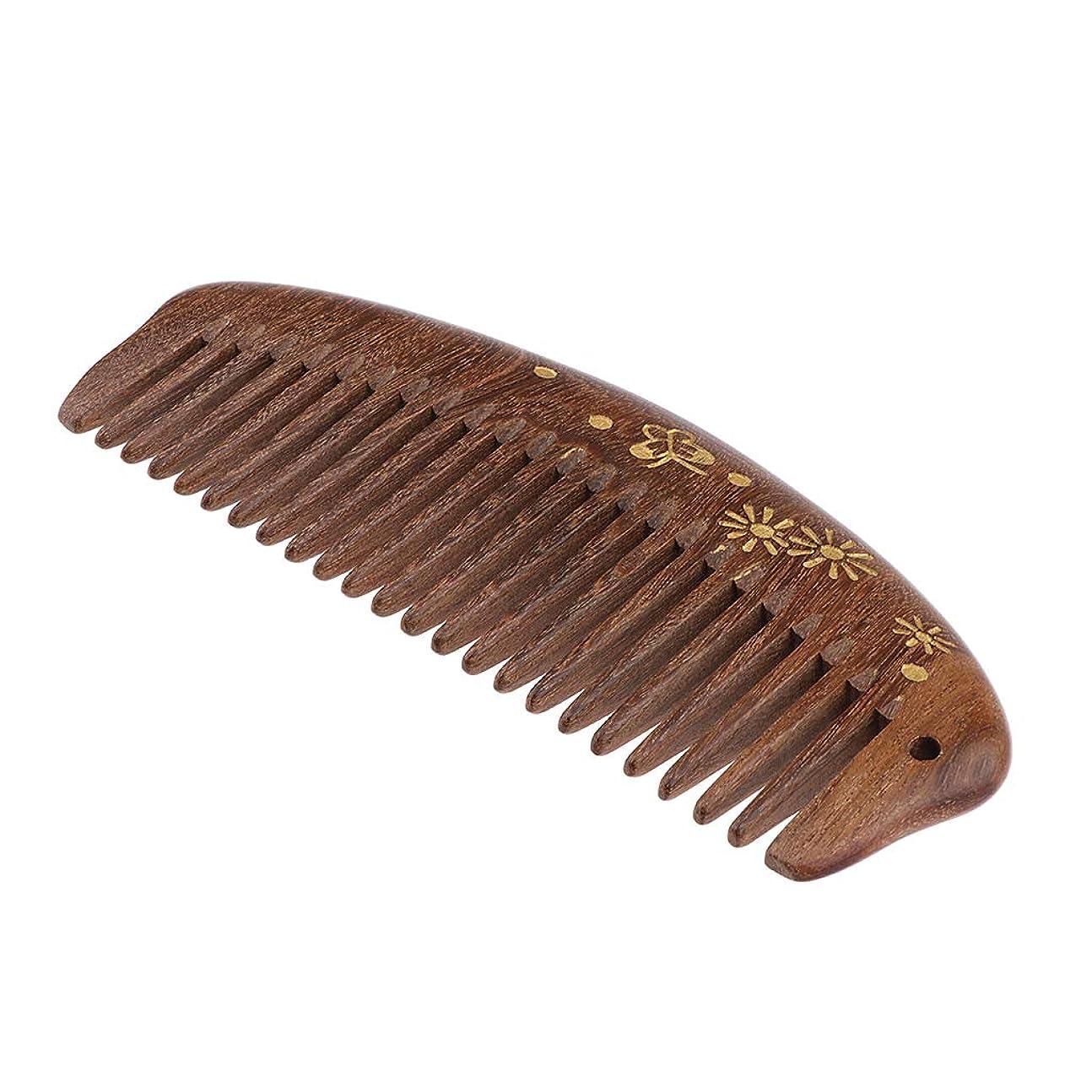 インタラクション積極的に廃棄P Prettyia 帯電防止櫛 ウッドコーム 櫛 頭皮マッサージ 携帯便利 3仕様選べ - 中歯