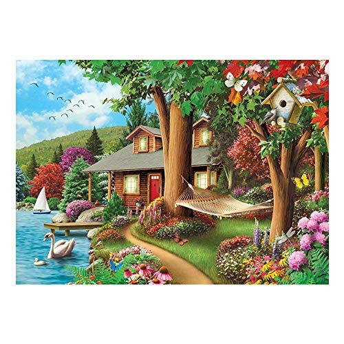 Puzzle 1000 Piezas DIY Clásico Rompecabezas de Madera para Swing by The River Niños Educativo Puzzles descompresión de Interesantes Juguete' 50x75cm
