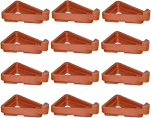 WEISHENG 12pcs Plant Pot Feet, Invisible Flower Pot Risers,DIY Combination Triangle Toes Pot Lifters Supports for Small to Large Flower Planter for Indoor Outdoor Gardening Plant Pots