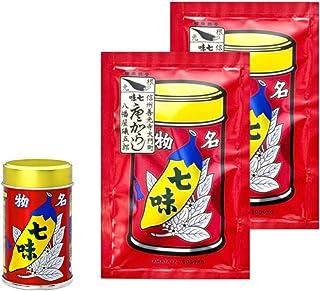 八幡屋礒五郎 七味唐辛子 14g1缶 18g2袋セット