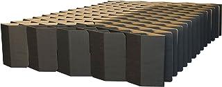 ROOM IN A BOX Bett 2.0 M/Schwarz: Klappbett aus Wellpappe 120 140 x 200 cm und..