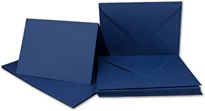 10,5 x 14,8 cm 25x Faltkarten DIN A6 Dunkelblau mit goldenen Metallic Sternen Marke: FarbenFroh by Gustav NEUSER Einladungskarten zu Weihnachten