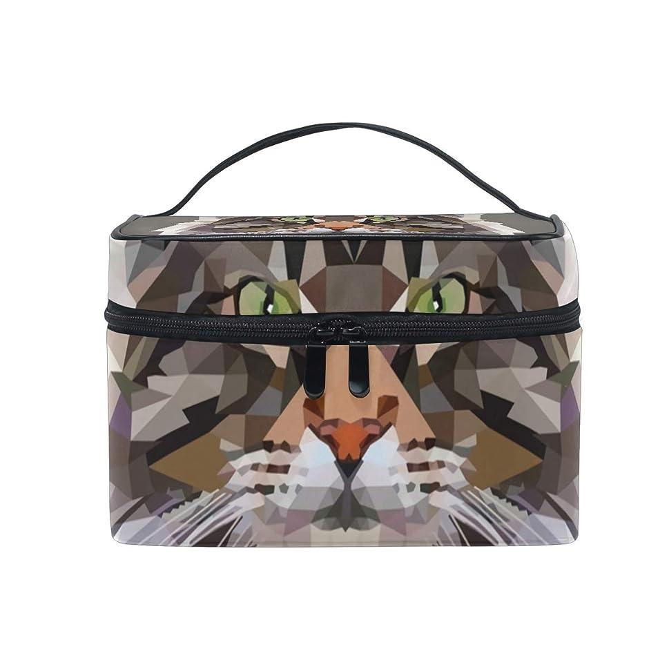 非互換衰える多様体メイクボックス メイン猫柄 化粧ポーチ 化粧品 化粧道具 小物入れ メイクブラシバッグ 大容量 旅行用 収納ケース