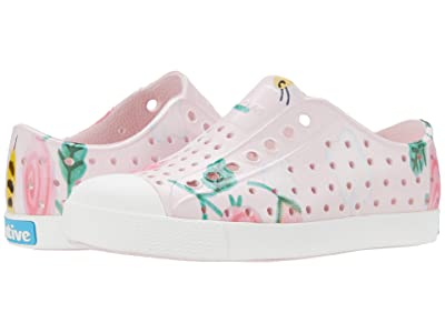 Native Kids Shoes Jefferson Print (Toddler/Little Kid) (Milk Pink/Shell White/Bees and Flowers) Girls Shoes