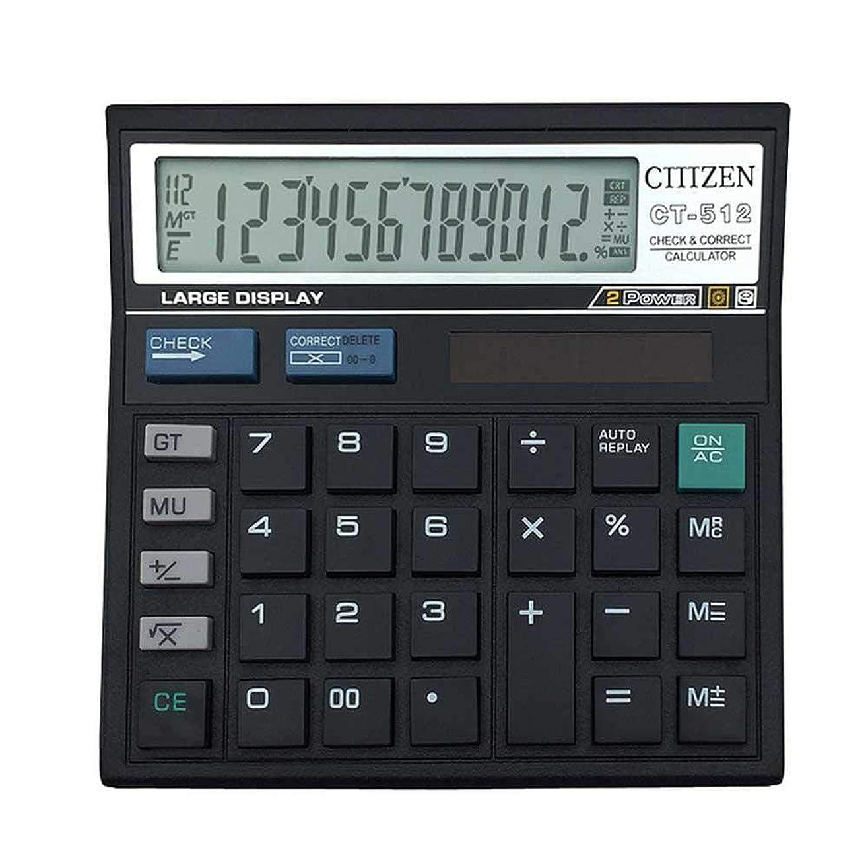真実手数料オアシスVolwco 電卓 12桁 ソーラーバッテリー 基本電卓 ソーラーバッテリー デュアルパワー 大型液晶ディスプレイ付き オフィス電卓