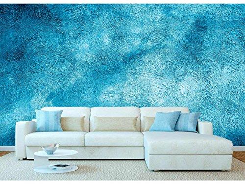 Papel Pintado Pared Imitación Estuco Azul Claro | Fotomural para Paredes | Mural | Papel Pintado | Varias Medidas 350 x 250 cm | Decoración comedores, Salones, Habitaciones.