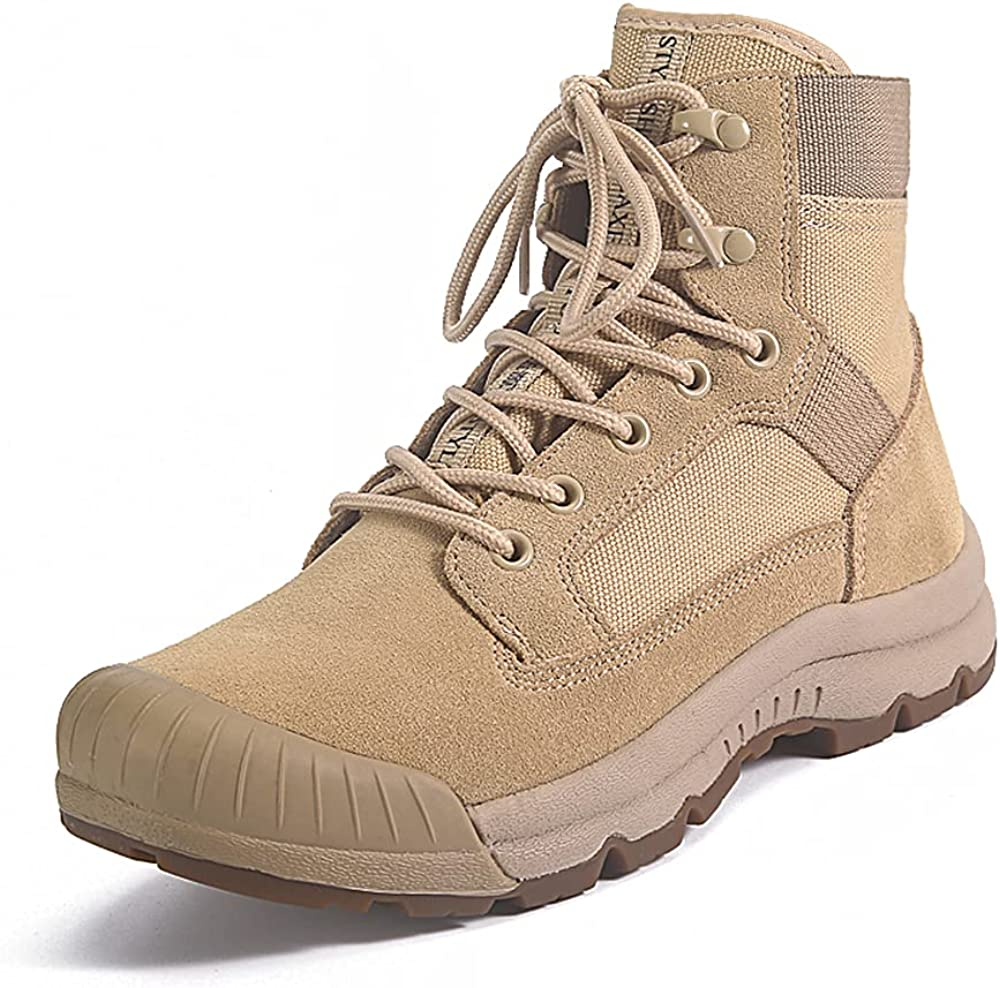 Women's Desert Boots Lightweight Combat Boots Durable Suede Leather Military Work Boots Tactical Boots