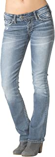 Silver Jeans Women's Tuesday Low Rise Slim Bootcut Jean, Indigo