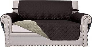 Easy-Going Sofa Slipcover Reversible Sofa Cover Furniture Protector Anti-Slip Foams Couch Cover Water Resistant Elastic Straps PetsKidsChildrenDogCat(Loveseat,Chocolate/Beige)