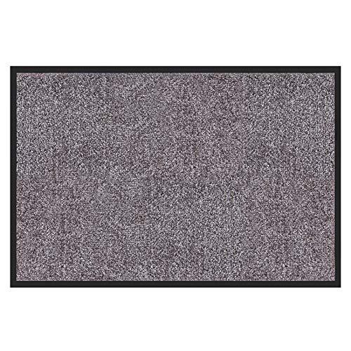 etm Hochwertige Fußmatte | schadstoffgeprüft | bewährte Eingangsmatte in Gewerbe & Haushalt | Schmutzfangmatte mit Top-Reinigungswirkung | Sauberlaufmatte waschbar & rutschfest (60x90 cm, Grau)