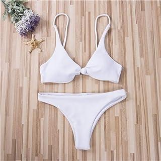 Zhengpingpai Sexy Women Triangle Bikini Set Solid Bathing Suit Push Up Bra Low Waist Thongs Aphrodisiacal Swimsuit Distaff...
