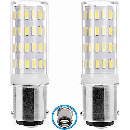 Ba15d Ampoule LED 5W AC/DC 12V-24V, Baïonnette Double Contact Ampoule, 50W Équivalent Blanc Froid 6000K, pour 12V-24V Appareil Lampes, Lot de 2.