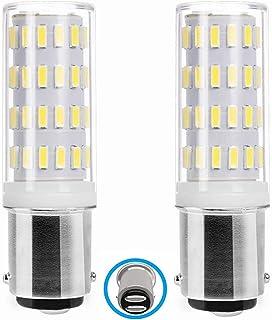 Ba15d led 12v Bombillas 5W, AC/DC 12v-24v, Doble Bayoneta, Equivalentes HalóGenas De 45 Vatios, luz Blanco Frío 6000K, para iluminación del Barco, Máquina de Coser.(2 Piezas)