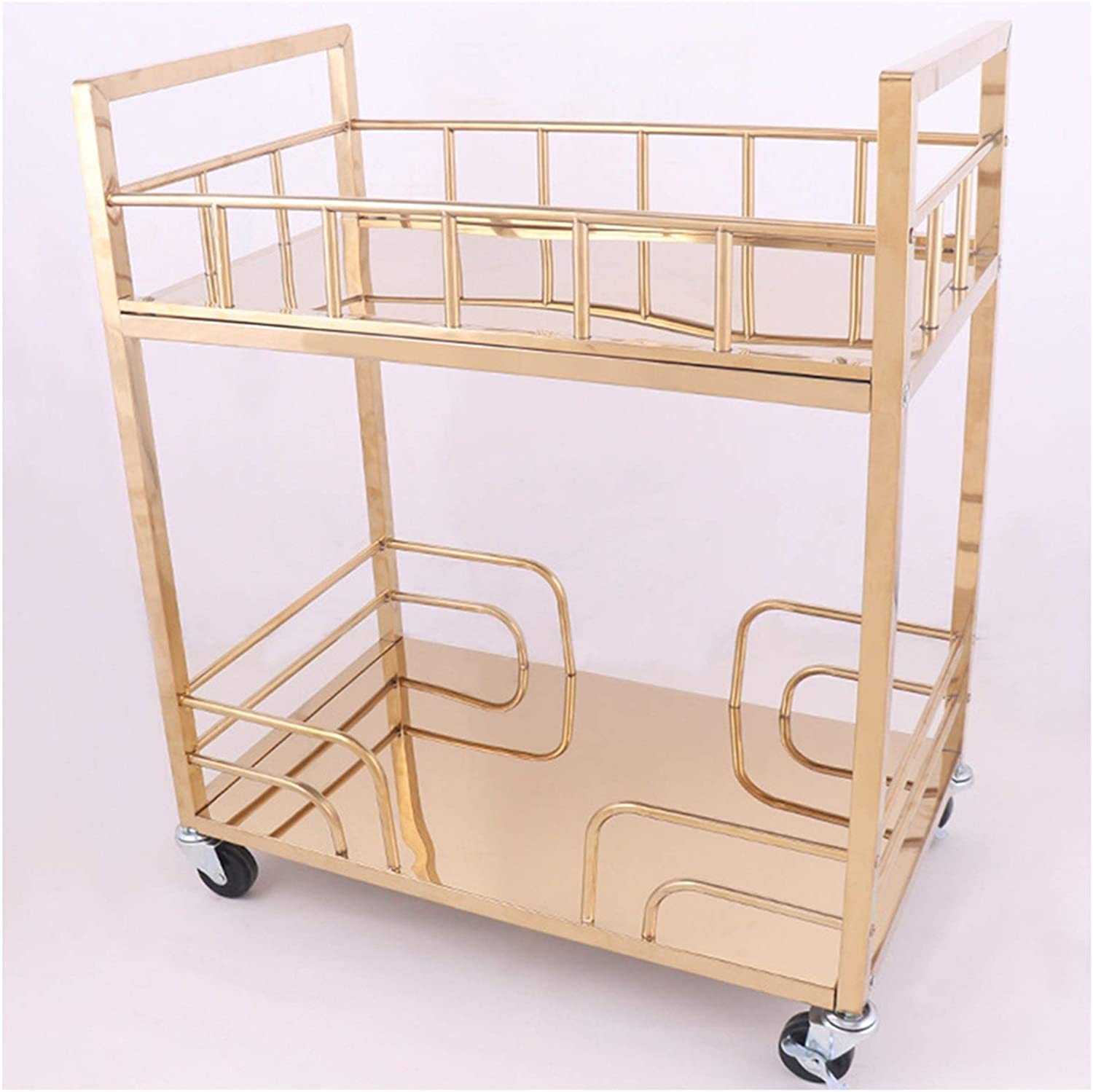 RKRLJX Bar Cart Industrial Inventory cleanup selling sale Kitchen Max 48% OFF Car Serving Carts Rolling