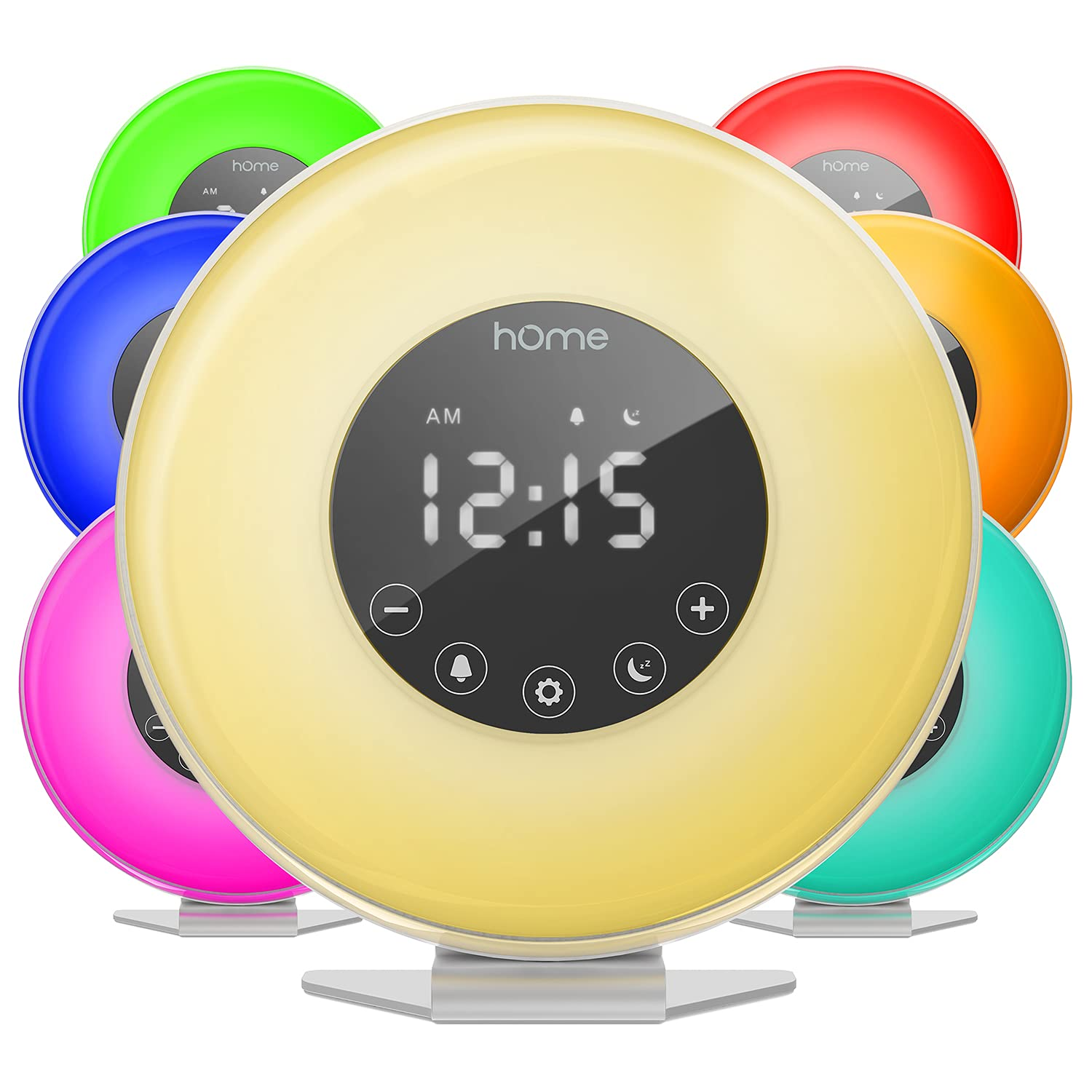 Amazon.com: hOmeLabs Sunrise Alarm Clock - Digital LED Clock with 6 Color  Switch and FM Radio for Bedrooms - Multiple Nature Sounds Sunset Simulation  & Touch Control - with Snooze Function for