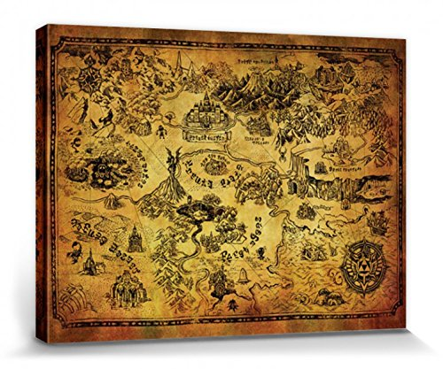 1art1 The Legend of Zelda - Mapa De Hyrule
