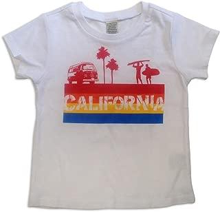 Sol Baby California 4 Color Stripe White Tee