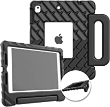Gumdrop FoamTech Case with Handle, Stand and Window Cut-Out for Apple iPad 9.7 (6th Gen & 5th Gen), iPad Pro 9.7, iPad Air 2 Tablet for K-12 Students, Teachers, Kids- Black, Rugged, Shock Absorbing