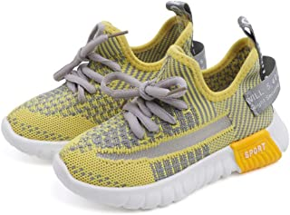 EVLYN Kids Slip-On Athletic Sneakers Boys Girls Breathable Outdoor Running Shoes