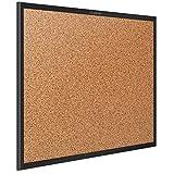 Quartet Cork Board, Bulletin Board, 4' x 3' Corkboard, Black Frame (2304B)
