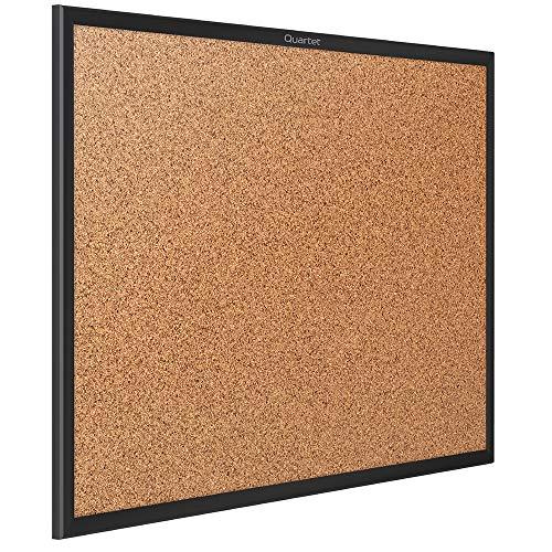 Quartet Cork Board, Bulletin Board, 3 x 2 Corkboard, Black Frame (2303B)