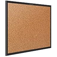 Quartet Cork Board, Bulletin Board, 6' x 4' Corkboard, Black Frame (2307B)