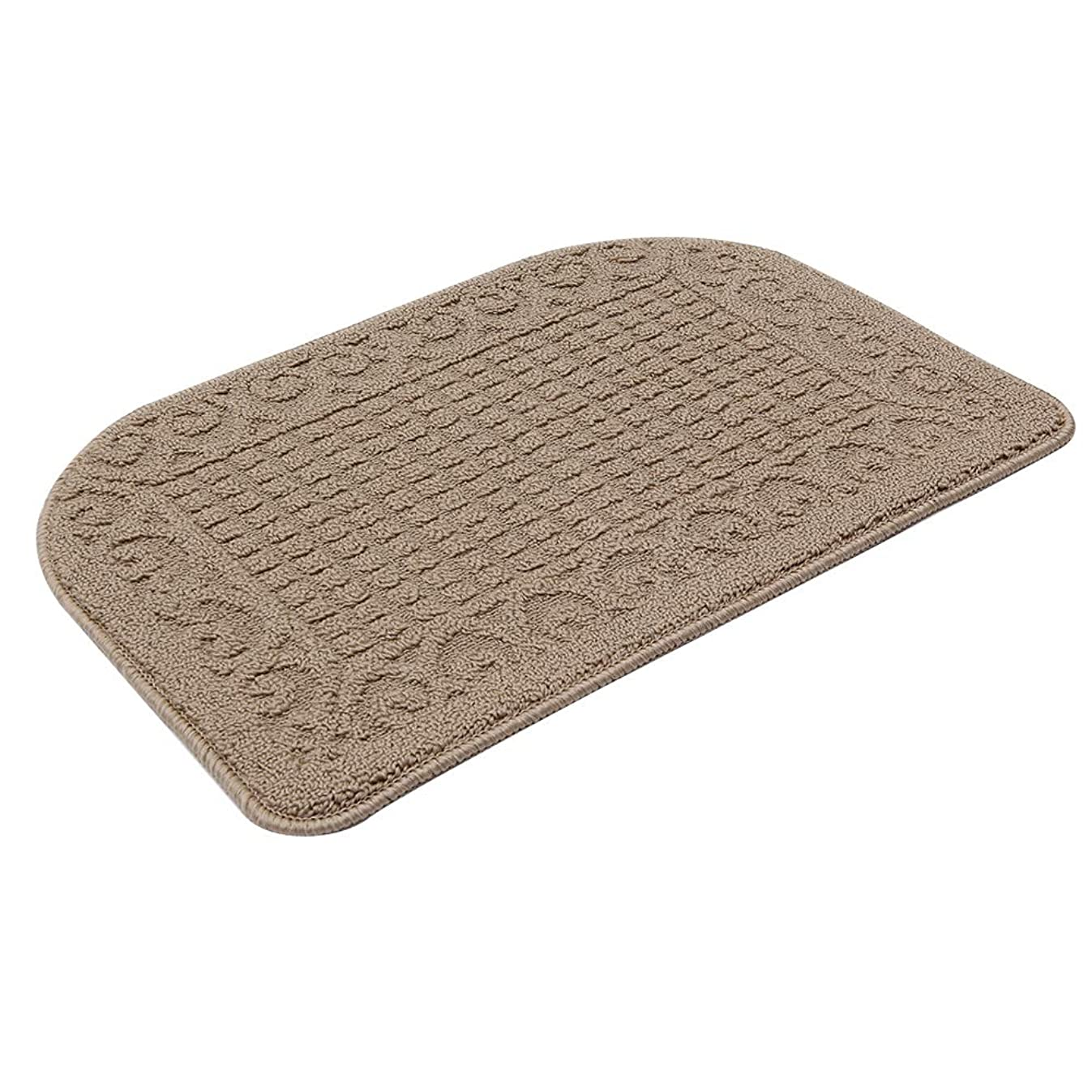 27X18 Inch Anti Fatigue Kitchen Rug Mats are Made of 100% Polypropylene Half Round Rug Cushion Specialized in Anti Slippery and Machine Washable,Beige