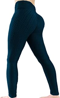 WINNOR High Waisted Butt Lifting Yoga Pants for Women Anti Cellulite Workout Leggings Textured Scrunch Booty Tights