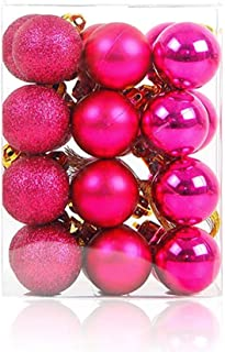 Best fuschia pink christmas baubles Reviews