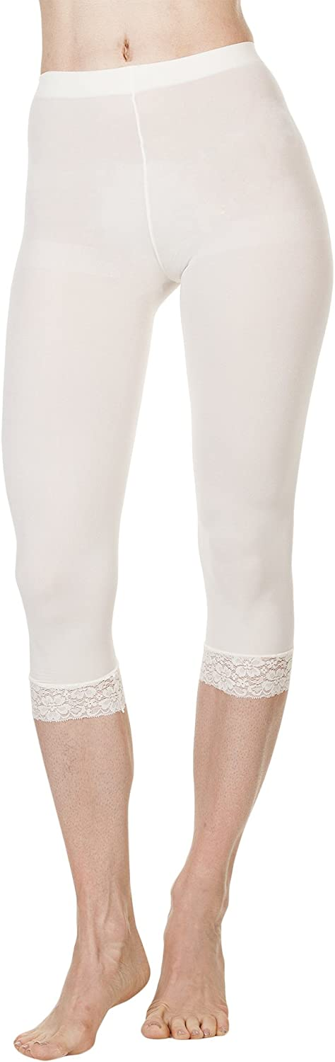 Foot Traffic, Microfiber Capri with Lace Tights