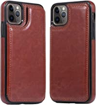iPhone11 Pro Max Case Wallet Compatible with Apple iPhone 11 Promax Cases I Phone 11Pro Mac Cover PU Leather Stand Card Holder Iph 11Promax Protective Bumper 6.5 Inch(Brown)