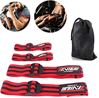 TAVIEW Occlusion Bands,4 Pack (2 Bicep Bands,2 Leg Bands), Comfortable Elastic Bands for Blood Flow Restriction Training and Fast Muscle Growth Without Lifting Heavy Weights