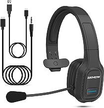 Bluetooth Headset mit Mikrofon Drehbar, Esolom Kabellos Headset Bluetooth 5.0 PC Headset..