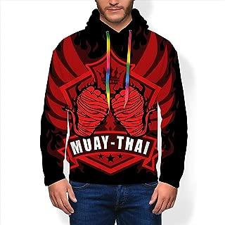 Men's Novelty Hoodie Muay Thai Wings of Winner Casual Sweatshirt Hoodie Unisex L