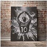 LIUXR Wayne Rooney Poster und Drucke Wandkunst Leinwand