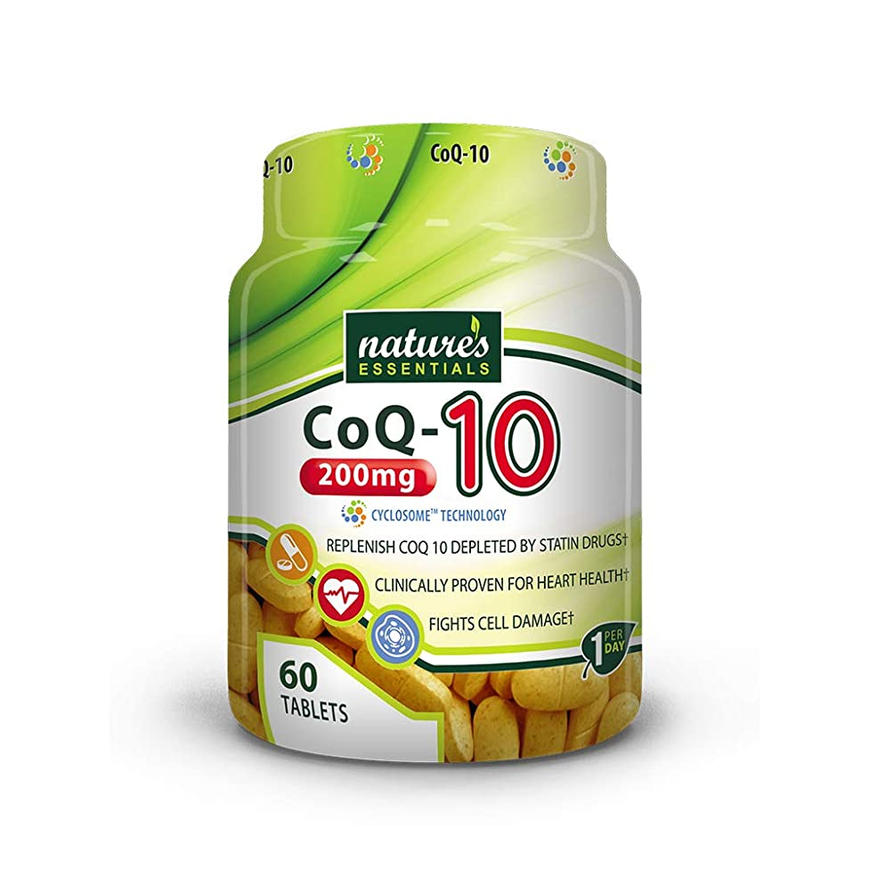 Nature's Essentials CoQ10 200mg with Advanced Cyclosome? Liposomal Delivery Technology - 60 Tablets