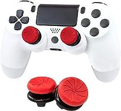 Aerku FPSフリーク PS5 PS4 コントローラー用 親指グリップキャップ RG 可動域アップ アシストキャップ 簡易パッケージ アシストキャップ ジョイスティックカバー For PS5 / PS4 保護カバー 二個入り (レッド)