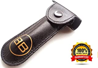 2 Genuine Leather Case Double Edge Safety Razor Protective Pouchs For The Price of One