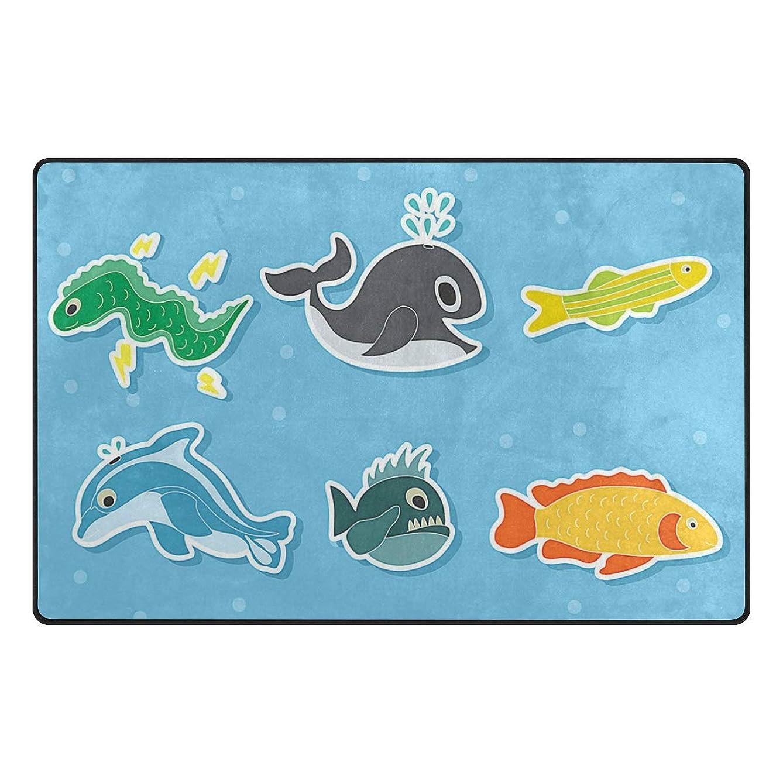 pengyong Cartoon Sea Creature Non-Slip Floor Mat Home Decor Door Carpet Entry Rug Door Mat for Outdoor/Indoor Uses